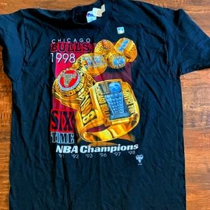 Vintage NWT Chicago Bulls 1998 Championship Shirt